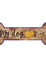 FAN CREATIONS Minnesota Vikings Dog Bone Sign