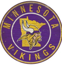 FAN CREATIONS Minnesota Vikings Round State Sign