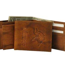 Minnesota Vikings Genuine Leather Vintage Billfold Wallet