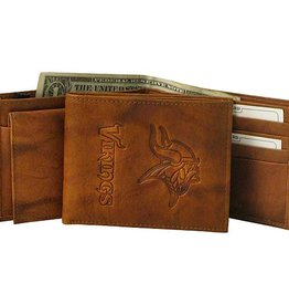 RICO INDUSTRIES Minnesota Vikings Genuine Leather Vintage Billfold Wallet