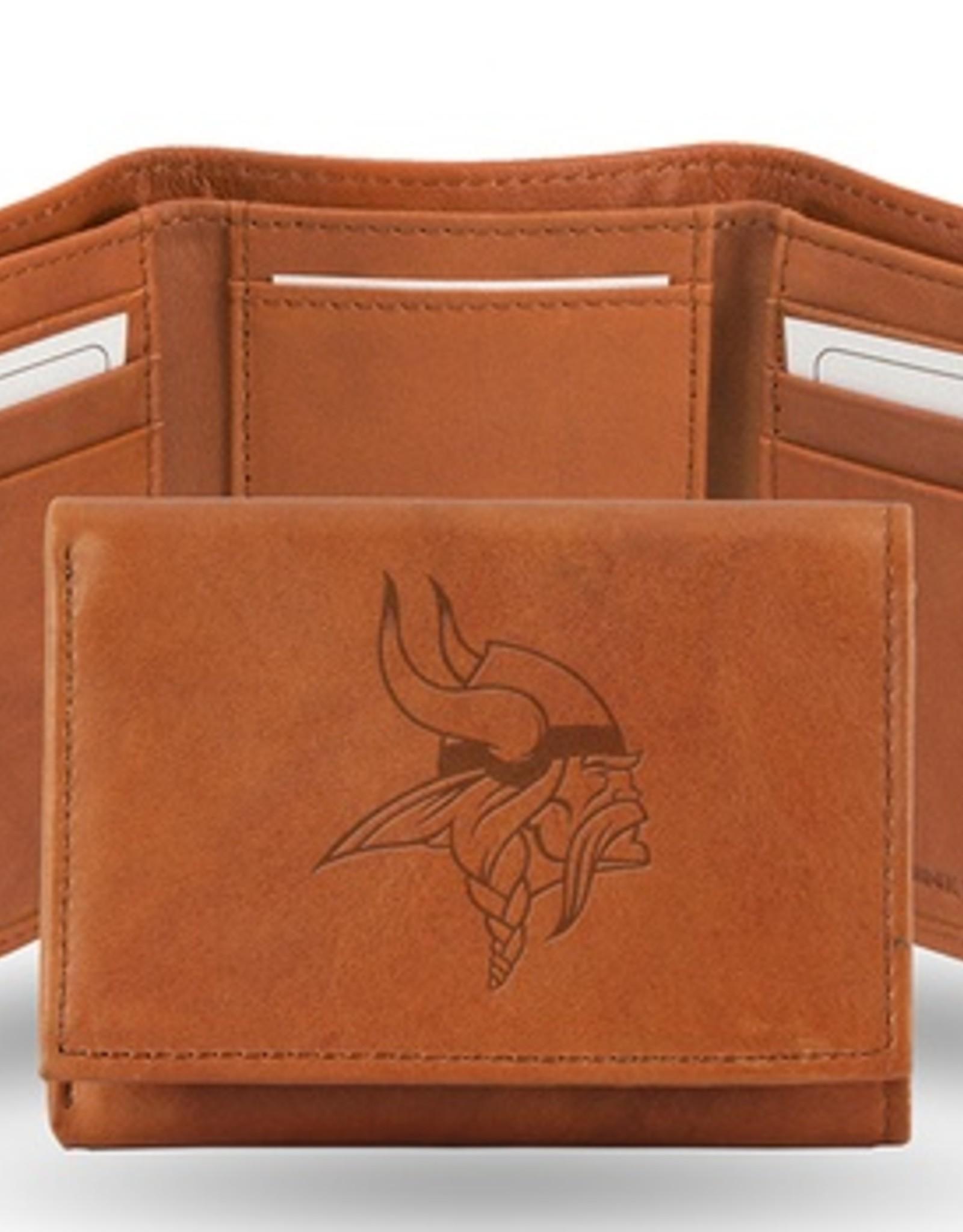 RICO INDUSTRIES Minnesota Vikings Genuine Leather Vintage Trifold Wallet
