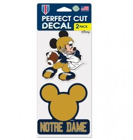 WINCRAFT Notre Dame Fighting Irish Set of Two DISNEY 4x4 Perfect Cut Decals
