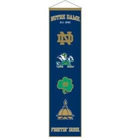 WINNING STREAK SPORTS Notre Dame Fighting Irish Heritage Banner