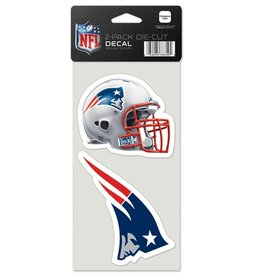 New England Patriots Set of Two 4x4 Perfect Cut Decals