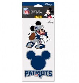 WINCRAFT New England Patriots Set of Two DISNEY 4x4 Perfect Cut Decals