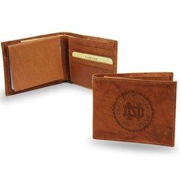 RICO INDUSTRIES Notre Dame Fighting Irish Genuine Leather Vintage Billfold Wallet