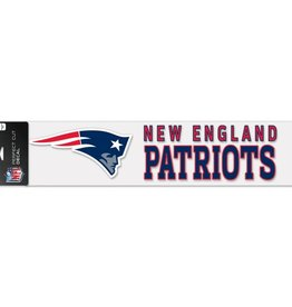 "WINCRAFT New England Patriots 4""x17"" Perfect Cut Decals"