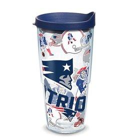 New England Patriots 24oz Tervis All Over Print Tumbler