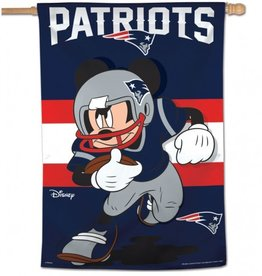 "WINCRAFT New England Patriots Disney Mickey Mouse 28"" x 40"" House Flag"