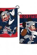 "WINCRAFT New England Patriots Disney Mickey Mouse 12.5"" x 18"" Garden Flag"
