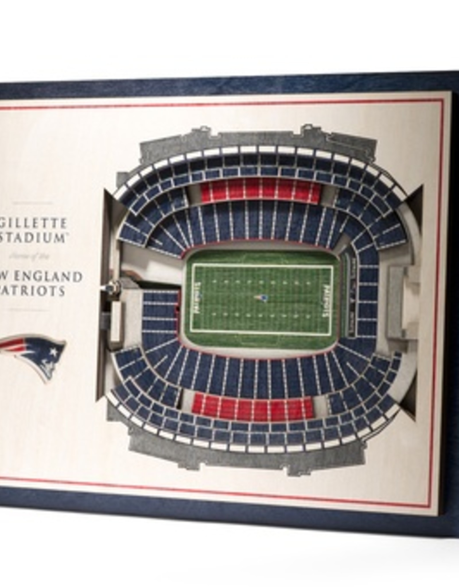 YOU THE FAN New England Patriots 5-Layer 3D Stadium Wall Art