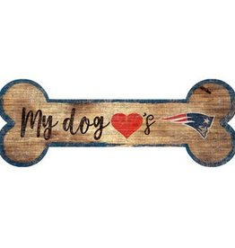 FAN CREATIONS New England Patriots Dog Bone Sign