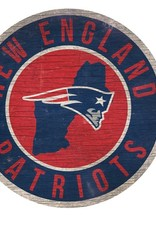 FAN CREATIONS New England Patriots Round State Sign