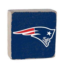 RUSTIC MARLIN New England Patriots Rustic Wood Team Block