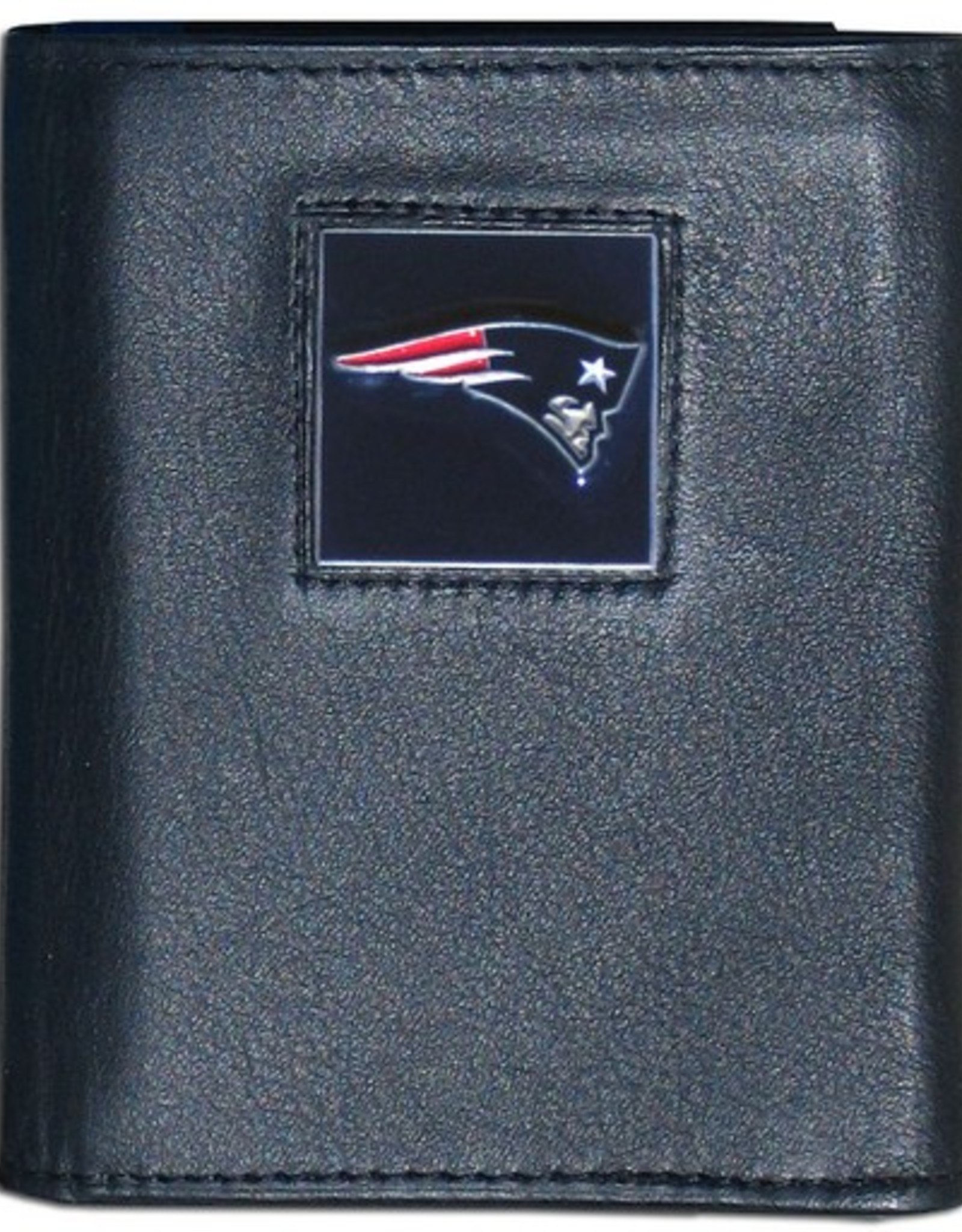 SISKIYOU GIFTS New England Patriots Executive Black Leather Trifold Wallet