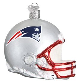 OLD WORLD CHRISTMAS New England Patriots Helmet Ornament