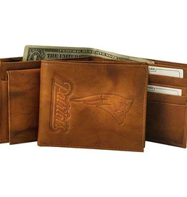 RICO INDUSTRIES New England Patriots Genuine Leather Vintage Billfold Wallet