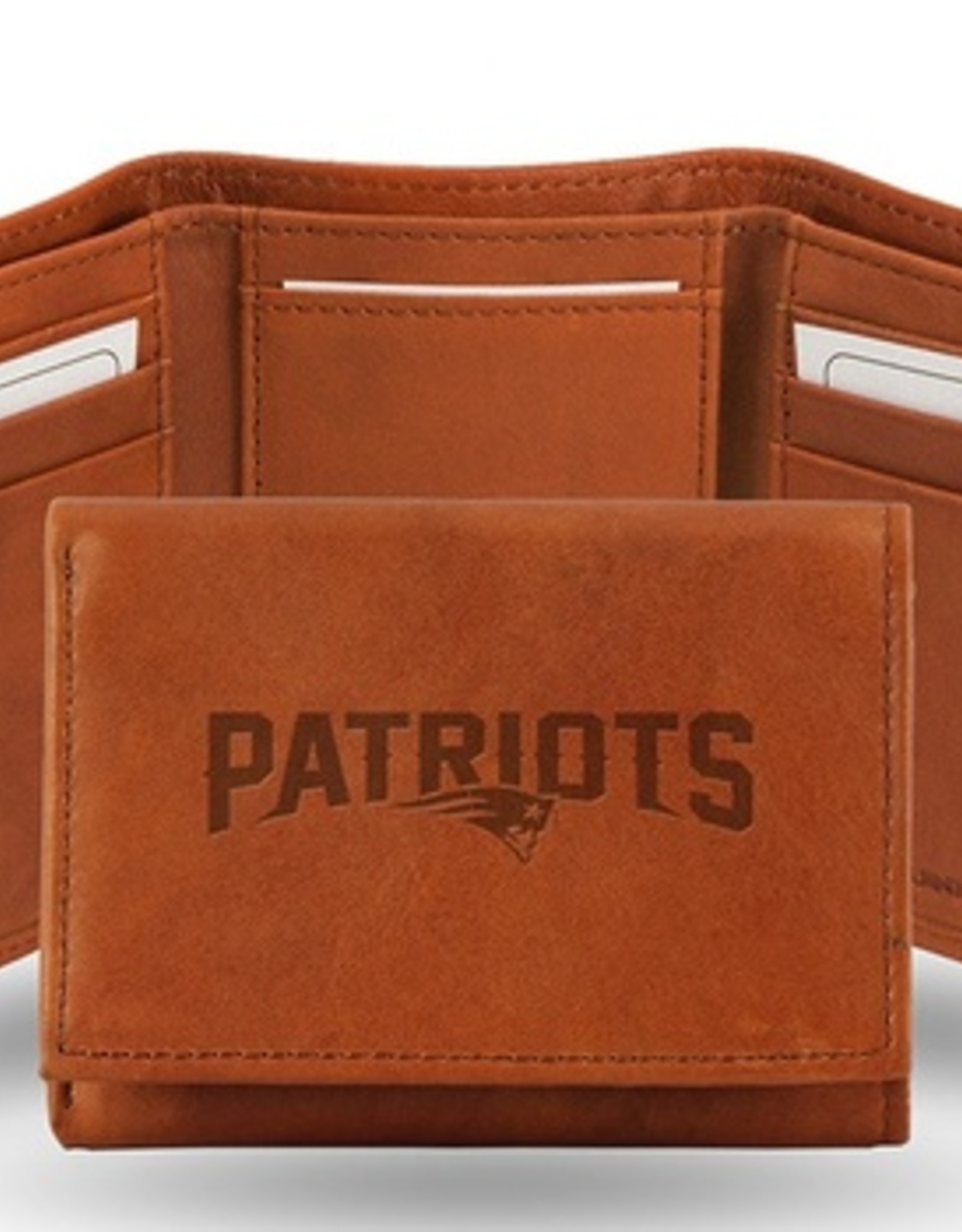 RICO INDUSTRIES New England Patriots Genuine Leather Vintage Trifold Wallet