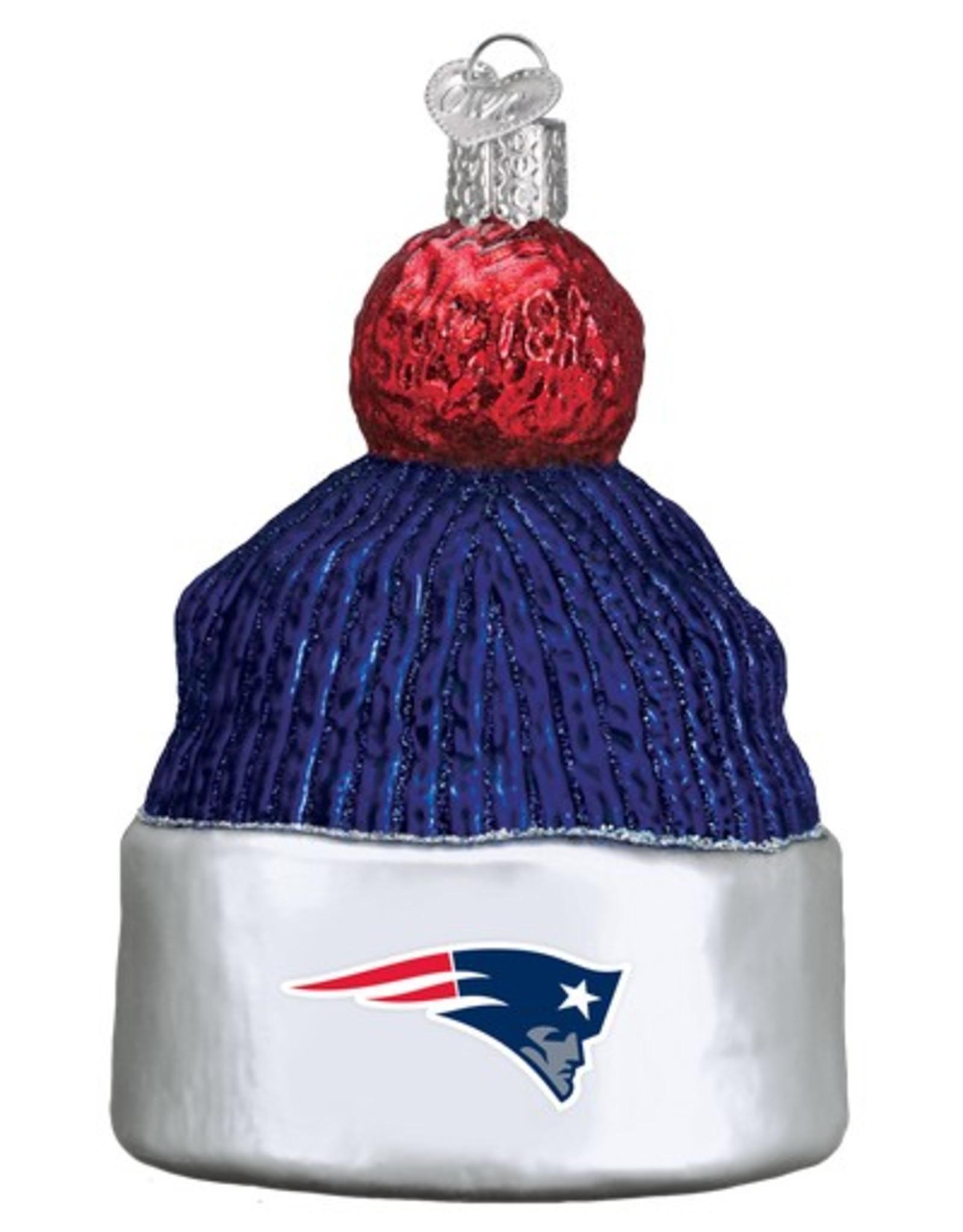 OLD WORLD CHRISTMAS New England Patriots Beanie Ornament