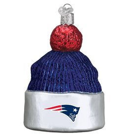 OLD WORLD CHRISTMAS New England Patriots Beanie Ornament