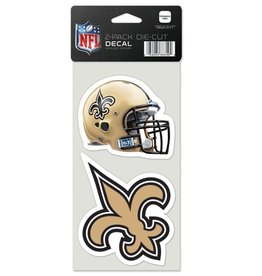 New Orleans Saints Set of Two 4x4 Perfect Cut Decals