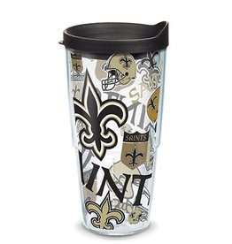 New Orleans Saints 24oz Tervis All Over Print Tumbler