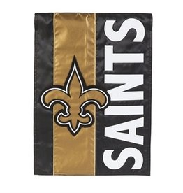 "EVERGREEN New Orleans Saints 28"" x 44"" Striped House Flag"