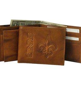 New Orleans Saints Genuine Leather Vintage Billfold Wallet