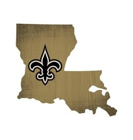 FAN CREATIONS New Orleans Saints Team Logo State Sign