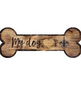 FAN CREATIONS New Orleans Saints Dog Bone Wood Sign