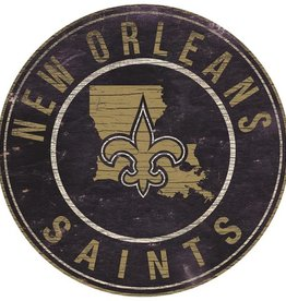 FAN CREATIONS New Orleans Saints Round State Sign