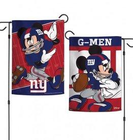 "WINCRAFT New York Giants Disney Mickey Mouse 12.5"" x 18"" Garden Flag"