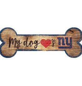 FAN CREATIONS New York Giants Dog Bone Sign