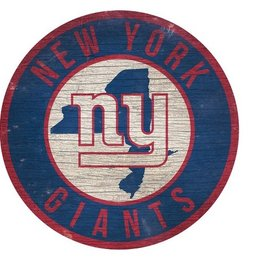 FAN CREATIONS New York Giants Round State Sign
