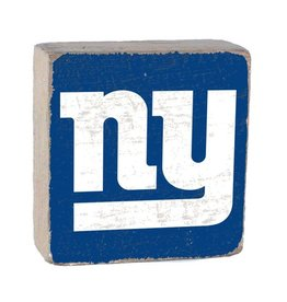 RUSTIC MARLIN New York Giants Rustic Wood Team Block