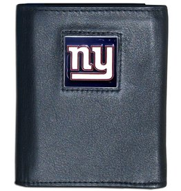 SISKIYOU GIFTS New York Giants Executive Black Leather Trifold Wallet