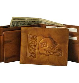RICO INDUSTRIES New York Giants Genuine Leather Vintage Billfold Wallet