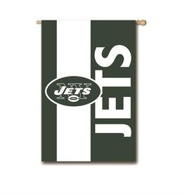"EVERGREEN New York Jets 28"" x 44"" Striped House Flag"