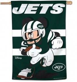 "WINCRAFT New York Jets Disney Mickey Mouse 28"" x 40"" House Flag"