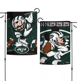 "WINCRAFT New York Jets Disney Mickey Mouse 12.5"" x 18"" Garden Flag"