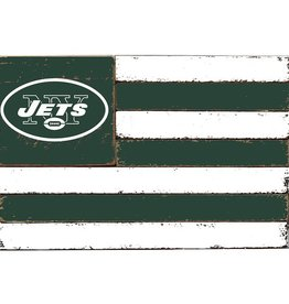 RUSTIC MARLIN New York Jets Rustic Team Flag