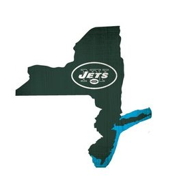 FAN CREATIONS New York Jets Team Logo State Sign