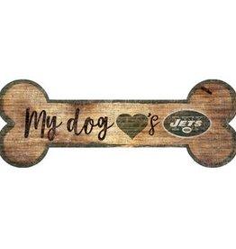 FAN CREATIONS New York Jets Dog Bone Sign