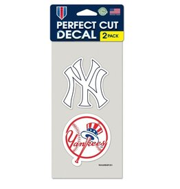 New York Yankees Set of Two 4x4 Perfect Cut Decals
