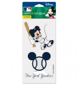 WINCRAFT New York Yankees Set of Two DISNEY 4x4 Perfect Cut Decals