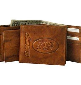 New York Jets Genuine Leather Vintage Billfold Wallet
