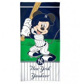 WINCRAFT New York Yankees Disney Mickey Mouse Beach Towel