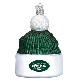 OLD WORLD CHRISTMAS New York Jets Beanie Ornament