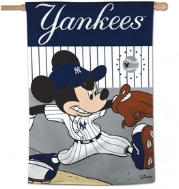 "WINCRAFT New York Yankees Disney Mickey Mouse 28"" x 40"" House Flag"