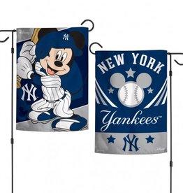 "WINCRAFT New York Yankees Disney Mickey Mouse 12.5"" x 18"" Garden Flag"